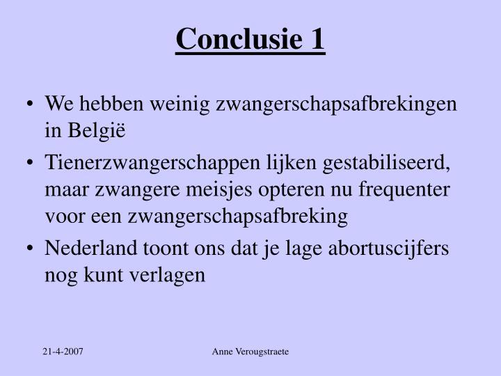 Conclusie 1