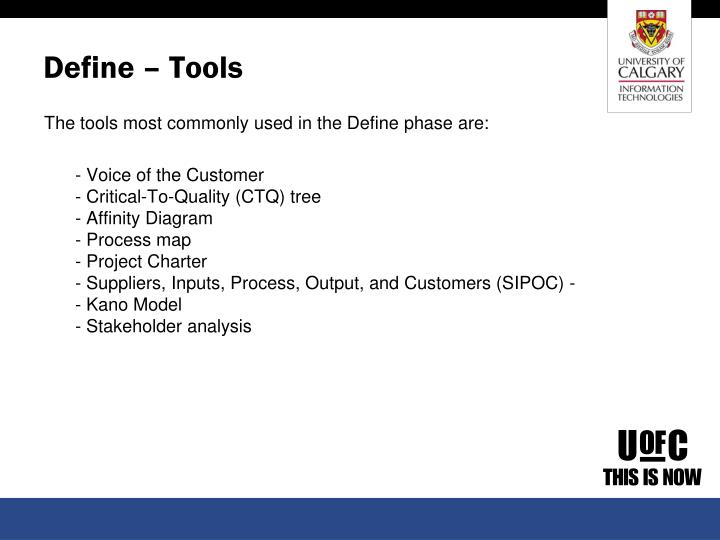 Define – Tools