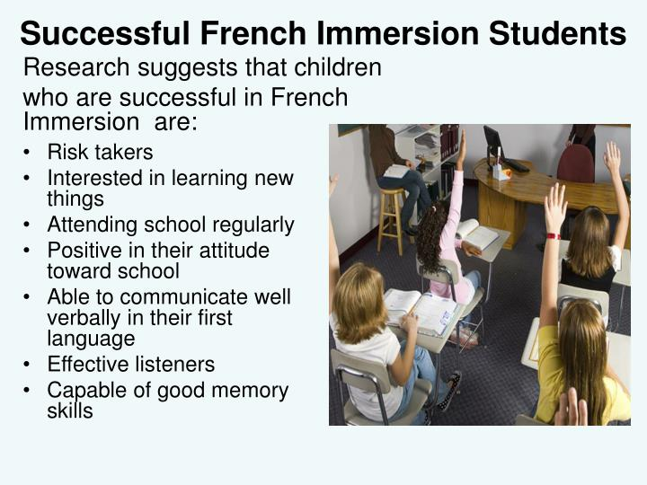 Successful French Immersion Students