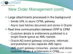 new order management cont