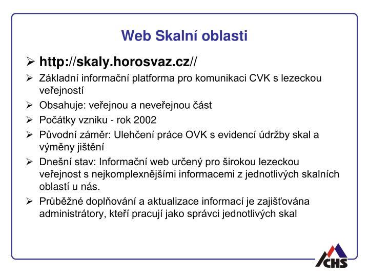 Web Skalní oblasti