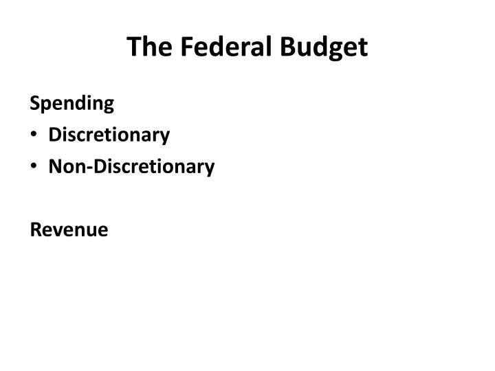the federal budget n.
