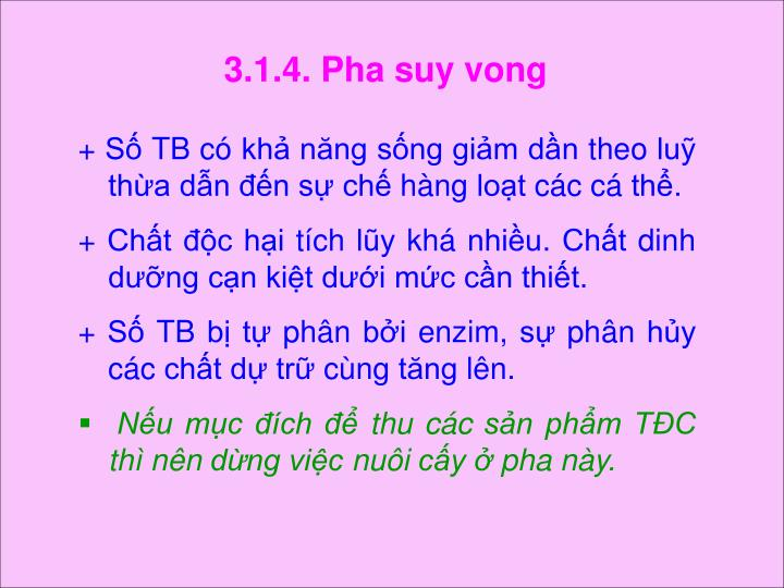 3.1.4. Pha suy vong