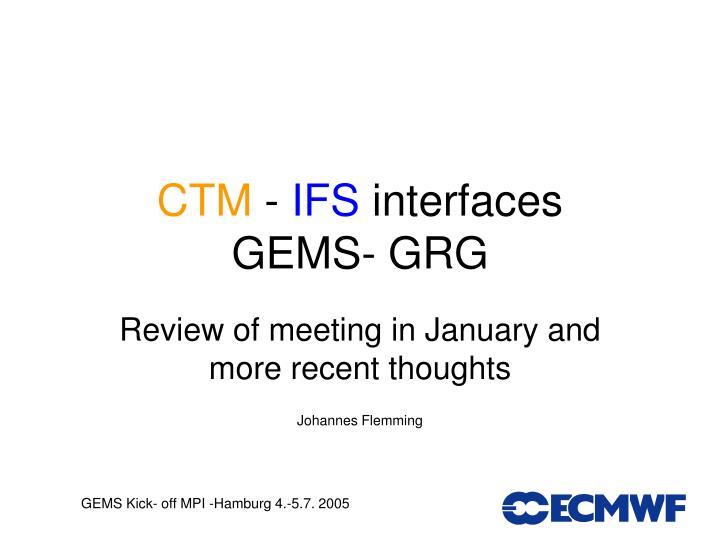 ctm ifs interfaces gems grg n.