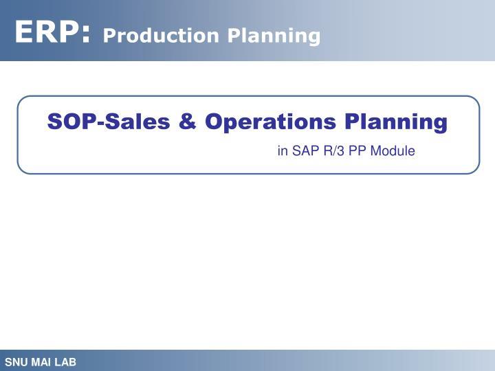 SOP-Sales & Operations Planning