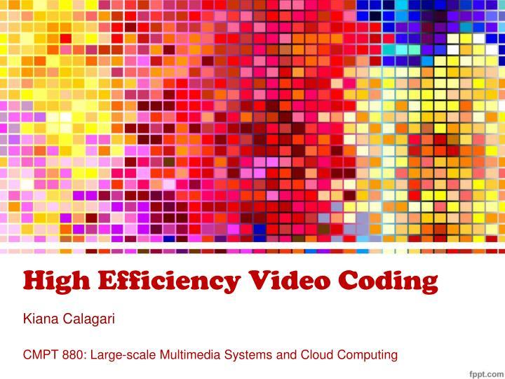 high efficiency video coding n.
