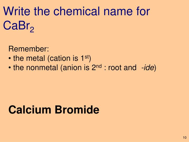 Write the chemical name for