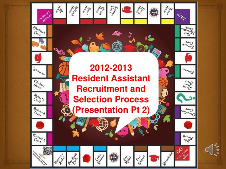 PPT - 2012-2013 Resident Assistant Recruitment and Selection Process