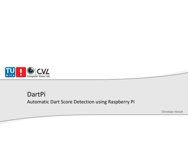 dartpi automatic dart score detection using raspberry pi n.