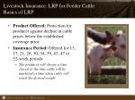 livestock insurance lrp for feeder cattle basics of lrp