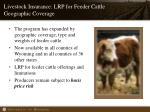 livestock insurance lrp for feeder cattle geographic coverage