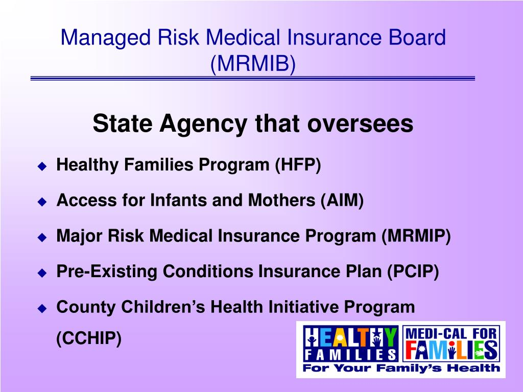 Ppt Managed Risk Medical Insurance Board Mrmib Powerpoint