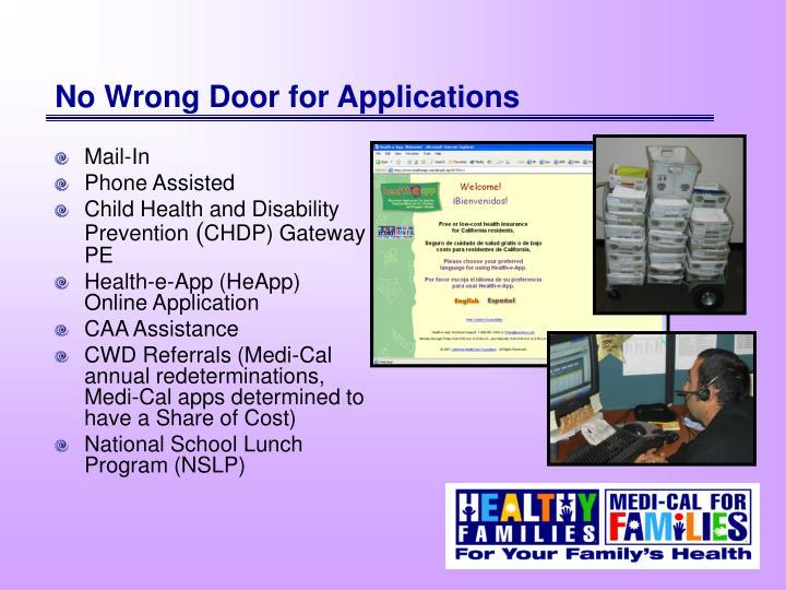 No Wrong Door for Applications