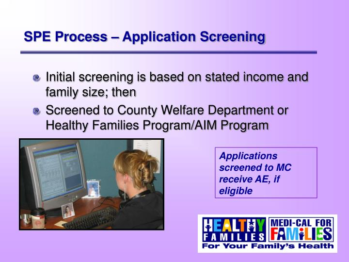 SPE Process – Application Screening