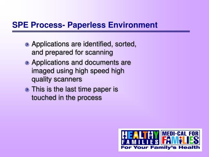SPE Process- Paperless Environment