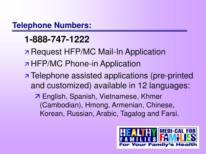 Telephone Numbers: