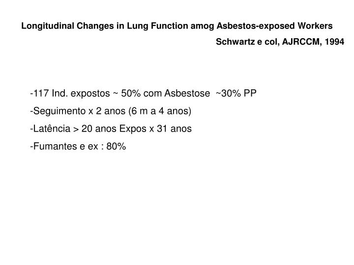Longitudinal Changes in Lung Function amog Asbestos-exposed Workers
