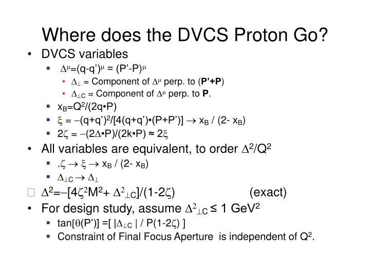 Where does the DVCS Proton Go?