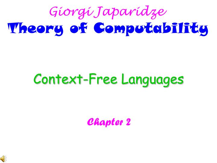 context free languages n.