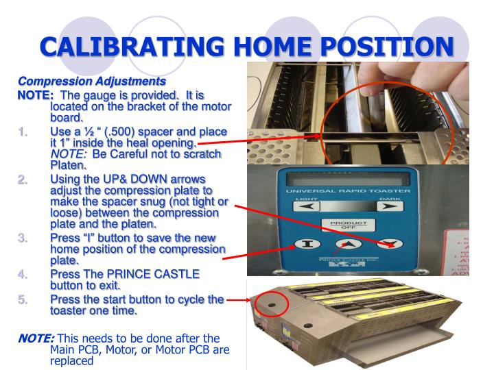 CALIBRATING HOME POSITION
