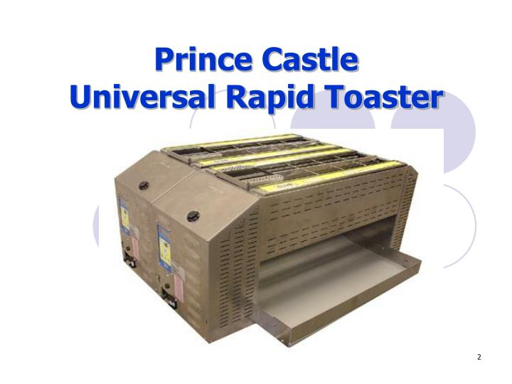 Prince castle universal rapid toaster