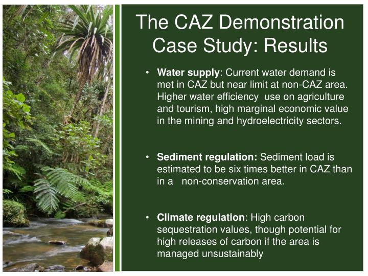 The CAZ Demonstration Case Study: Results