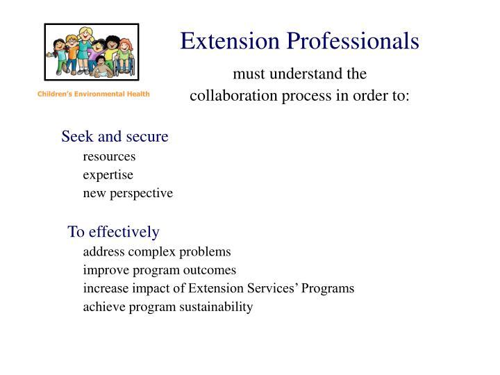 Extension Professionals
