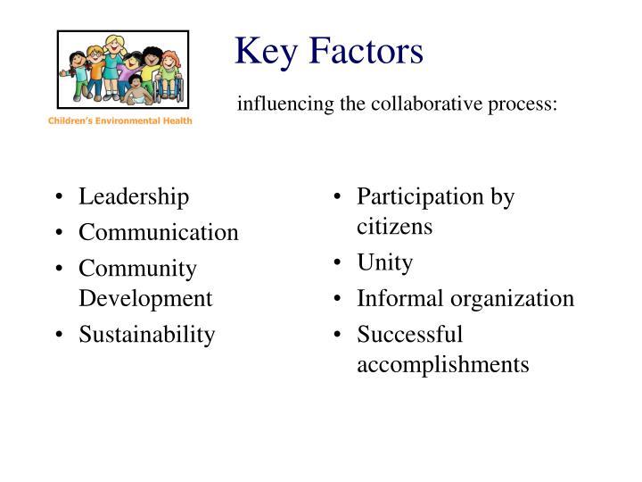 Key factors influencing the collaborative process