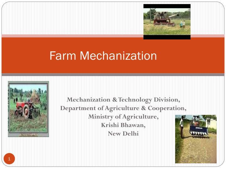 farm mechanization n.
