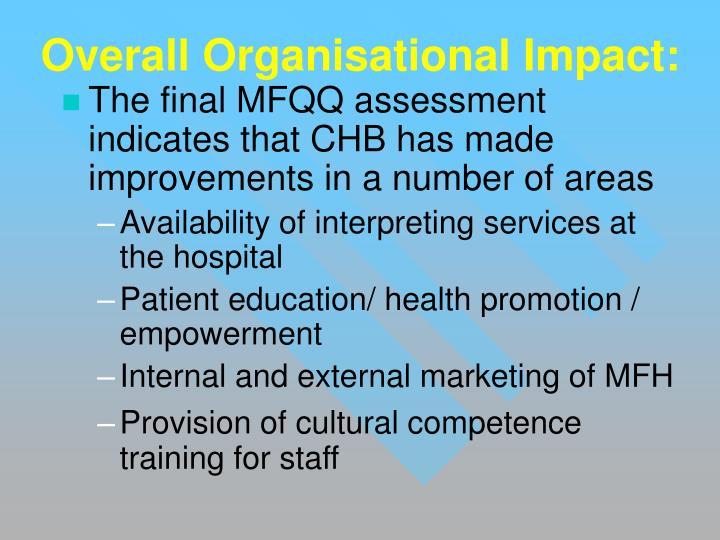 Overall Organisational Impact: