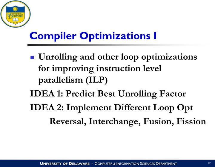 Compiler Optimizations I