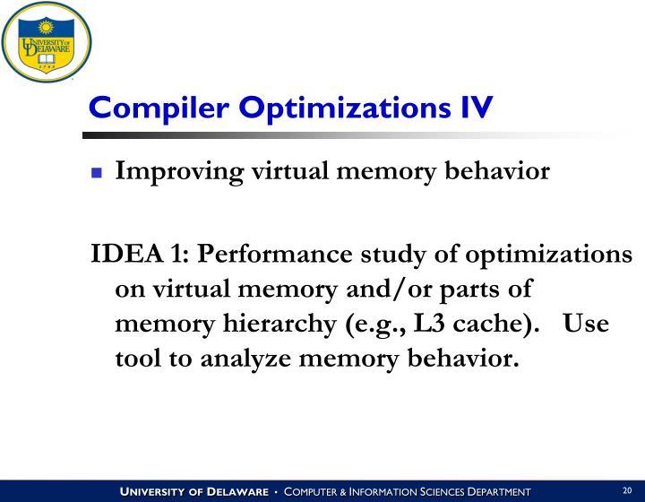 Compiler Optimizations IV