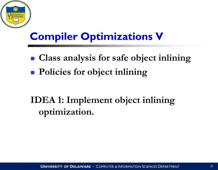 Compiler Optimizations V