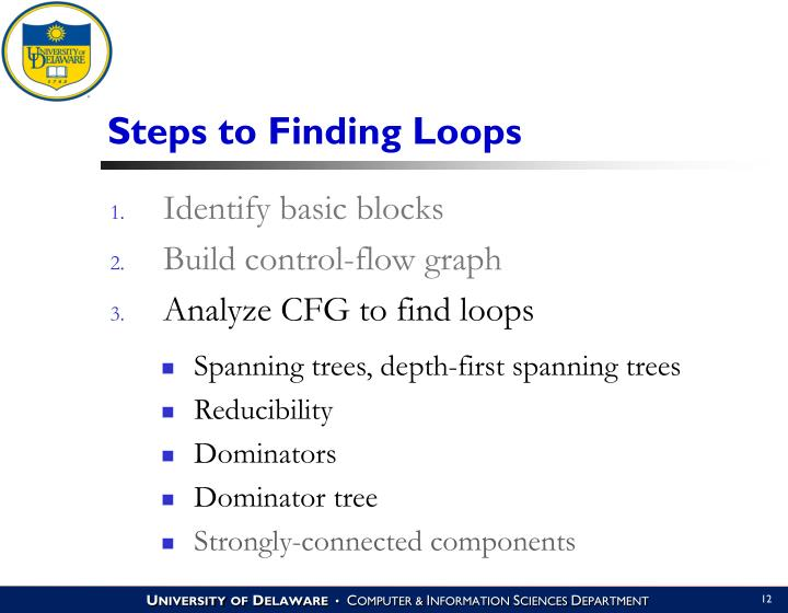 Steps to Finding Loops