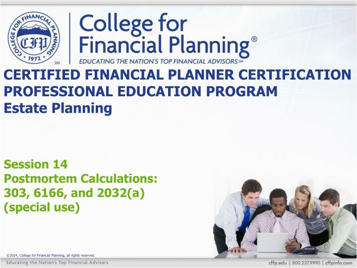 Ppt Certified Financial Planner Certification Professional