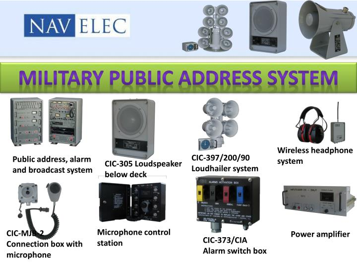 Military public address system