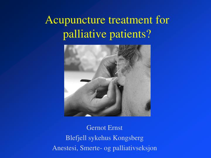 acupuncture treatment for palliative patients n.