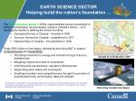 earth science sector helping build the nation s foundation