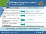 nrcan s priorities continue to support government s agenda