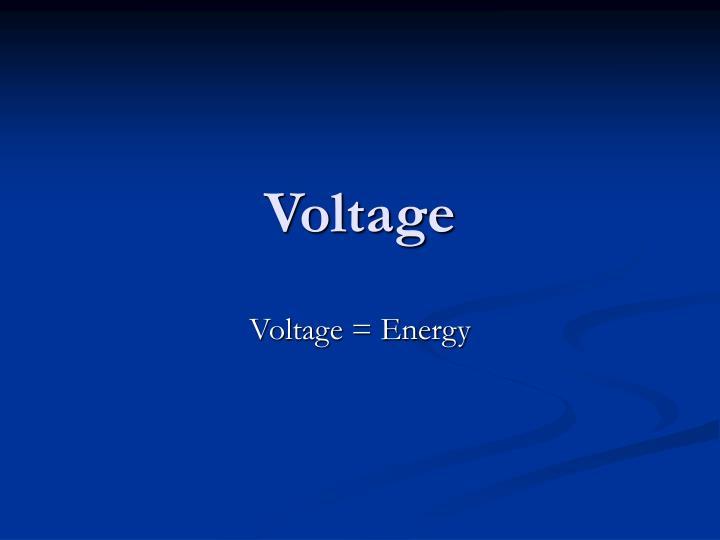voltage n.