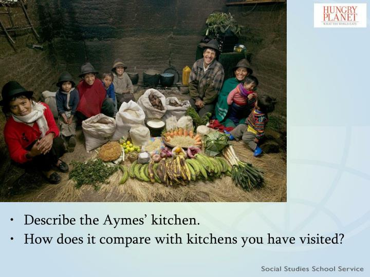 Describe the Aymes' kitchen.