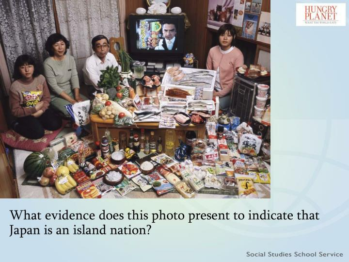 What evidence does this photo present to indicate that Japan is an island nation?