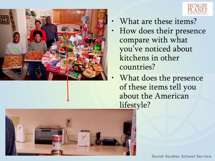 How does their presence compare with what you've noticed about kitchens in other countries?