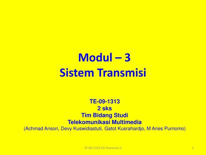 modul 3 sistem transmisi n.