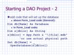 starting a dao project 2
