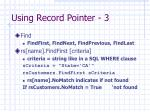 using record pointer 3