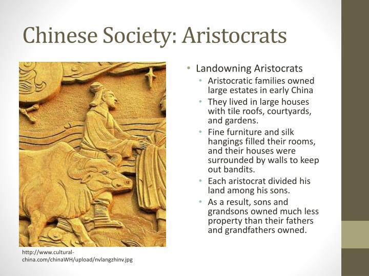 Chinese society aristocrats