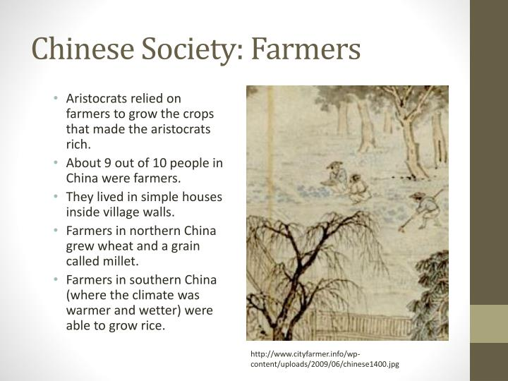 Chinese society farmers