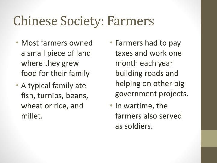 Chinese Society: Farmers