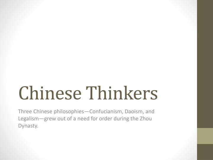 Chinese Thinkers